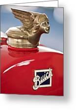 1928 Buick Custom Speedster Hood Ornament Greeting Card