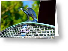 1931 Chevrolet Ae Independence Hood Ornament Greeting Card by Paul Ward