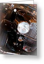 1931 Duesenberg Sj Derham Convertible Sedan Greeting Card