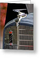 1935 Reo Speedwagon Pickup Hood Ornament Greeting Card