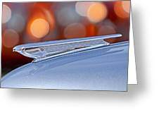 1938 Chevrolet Hood Ornament Greeting Card