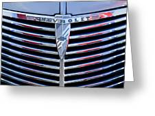 1939 Chevrolet Grille Greeting Card