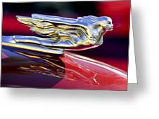 1941 Cadillac Hood Ornament Greeting Card