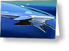 1951 Chevrolet Hood Ornament Greeting Card
