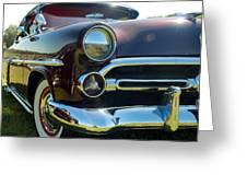 1952 Ford Customline Greeting Card