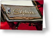 1957 Ford Skyliner Retractable Hardtop Emblem Greeting Card
