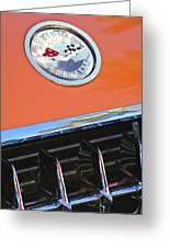 1958 Chevrolet Corvette Hood Emblem Greeting Card