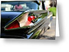 1958 Mercury Park Lane Tail Light Greeting Card