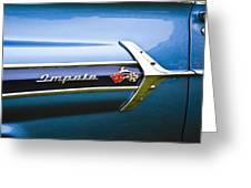 1960 Chevrolet Impala Emblem Greeting Card