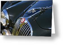 1961 Jaguar Mk II 3.8 Litre Automatic Greeting Card
