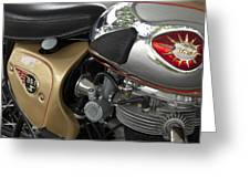 1966 Bsa 650 A-65 Spitfire Lightning Clubman Motorcycle Greeting Card