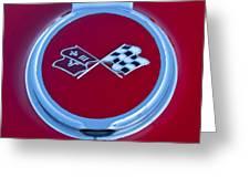 1967 Chevrolet Corvette Emblem Greeting Card