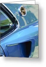 1969 Ford Mustang Mach 1 Emblem 2 Greeting Card by Jill Reger