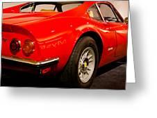 1973 Ferrari Dino 246 Gt Greeting Card