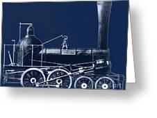 19th Century Locomotive Greeting Card