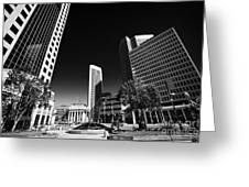 201 Portage Canwest Place Toronto Dominion Centre Tdc Downtown Winnipeg Manitoba Canada Greeting Card by Joe Fox