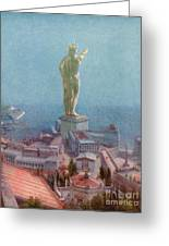 7 Wonders Of The World, Colossus Greeting Card