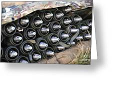 81mm Mortar Rounds Ready Stacked Ready Greeting Card