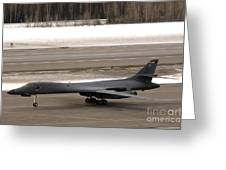 A B-1b Lancer Performs A Touch And Go Greeting Card