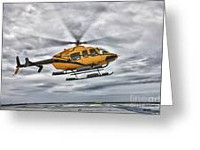 A Bell 407 Utility Helicopter Prepares Greeting Card