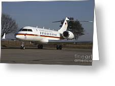 A Bombardier Global 5000 Vip Jet Greeting Card