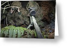 A British Army Sniper Team Dressed Greeting Card