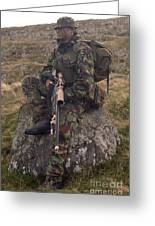 A British Soldier Armed With A Sniper Greeting Card