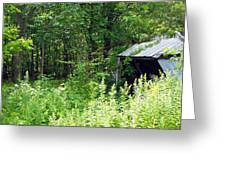 A Broken Down Farm Building Greeting Card