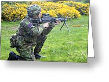 A Coldstream Guard Training In Scotland Greeting Card