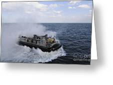 A Landing Craft Utility From Assault Greeting Card