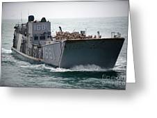 A Landing Craft Utility Transits Greeting Card