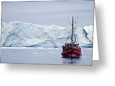 A Midnight Cruise Around The Ilulissat Greeting Card