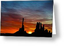 A New Day At The Totem Poles Greeting Card