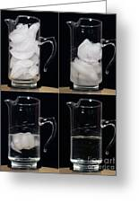 A Pitcher Of Ice Melts Over 4 Hours Greeting Card