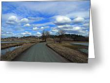 A Road View In Wildlife Refuge Greeting Card