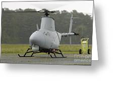 A Rq-8a Fire Scout Unmanned Aerial Greeting Card