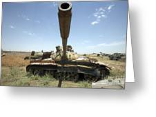 A Russian T-55 Main Battle Tank Greeting Card