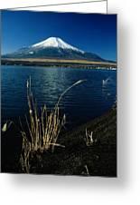 A Scenic View Of Mount Fuji Taken Greeting Card