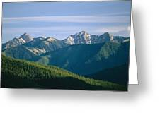 A Scenic View Of The Rocky Mountains Greeting Card