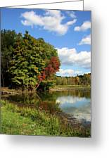 A Touch Of Autumn Greeting Card by Kristin Elmquist