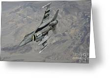 A U.s. Air Force F-16 Fighting Falcon Greeting Card