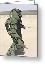 A U.s. Marine Tries Running In A Bomb Greeting Card