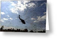 A U.s. Navy Hh-60 Seahawk Stirs Greeting Card