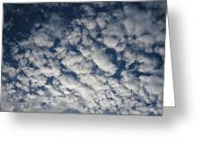 A View Of A Cloud-filled Sky Over Miami Greeting Card