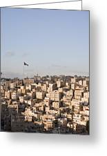 A View Of Amman, Jordan Greeting Card by Taylor S. Kennedy