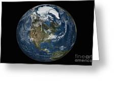 A View Of The Earth With The Full Greeting Card
