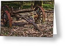 Abandoned Wagon Greeting Card