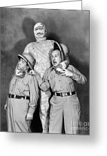 Abbott And Costello Greeting Card by Granger