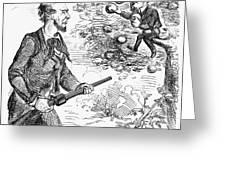 Abraham Lincoln Cartoon Greeting Card