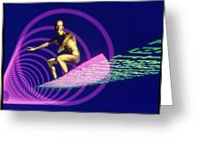 Abstract Computer Artwork Of Surfing The Internet Greeting Card